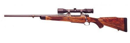 416 Rigby 5shot 23in Engraved LH Dakota